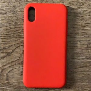 iPhone XR Red Hard PVC case